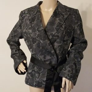 H&M Double-Breasted Floral Print Jacket